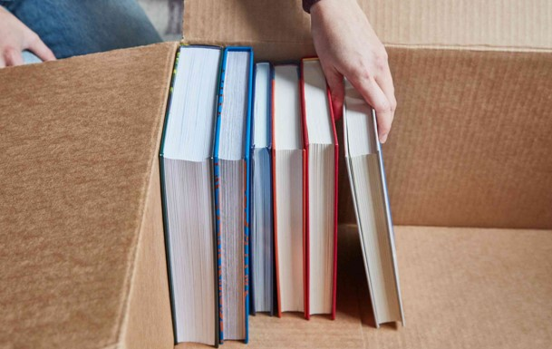 How to pack books for moving